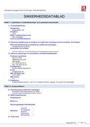 Sikkerheds Datablad - Dana Lim A/S