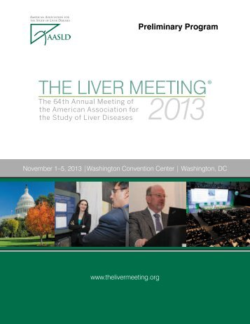 The Liver Meeting® 2013 Preliminary Program - AASLD