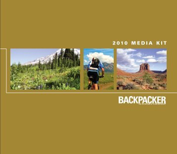 2010 media kit - Backpacker Magazine