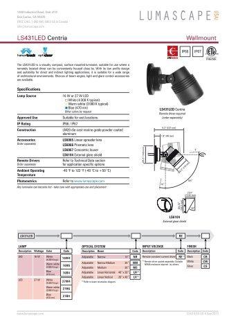 Wallmount LS431LED Centria - Lumascape