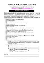 Form Pendaftaran M.Th. - SAAT