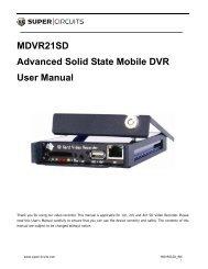 MDVR21SD Advanced Solid State Mobile DVR User Manual