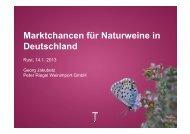 Marktchancen für Naturweine in Deutschland