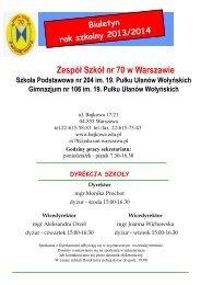 Zespół Szkół nr 70 w Warszawie - Witamy na stronie Zespołu Szkół ...