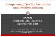 Quality System Essentials in Clinical Microbiology - SWACM