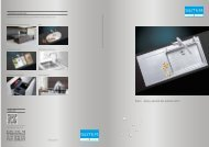 Éviers: Aperçu général des produits 2012 - Suter