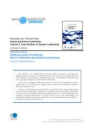 Education and Training Policy Improving School Leadership Volume 2