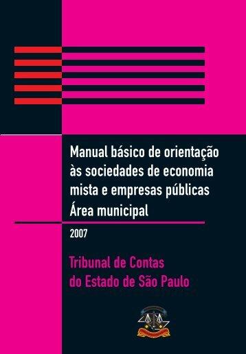 Área Municipal - Tribunal de Contas do Estado de São Paulo