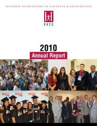 2010 - Hispanic Association of Colleges and Universities