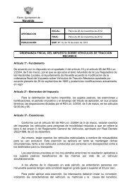 ordenanza fiscal del Impuesto sobre Vehículos de Tracción Mecánica