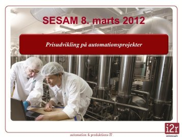 Prisudvikling på automationsproejkter - Sesam Danmark