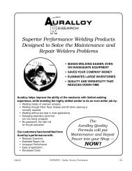auralloy welding products - Chromate Industrial Corporation