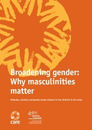 Broadening gender: Why masculinities matter - Partners for Prevention