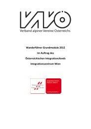 Wanderführer Grundmodul im Auftrag des Integrationsfonds Wien