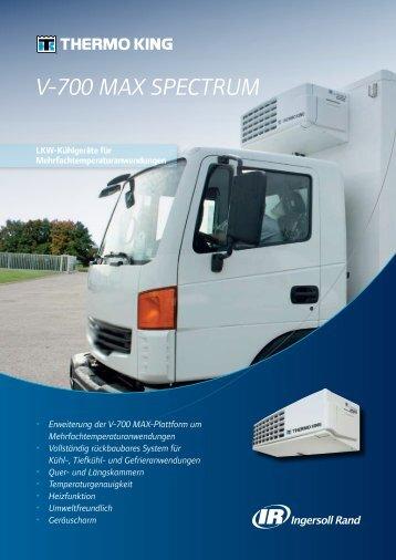 V-700 MAX SPECTRUM – Technische Daten - THERMO KING SÜD