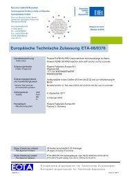 ETA-08/0376 - bei Powers Europe