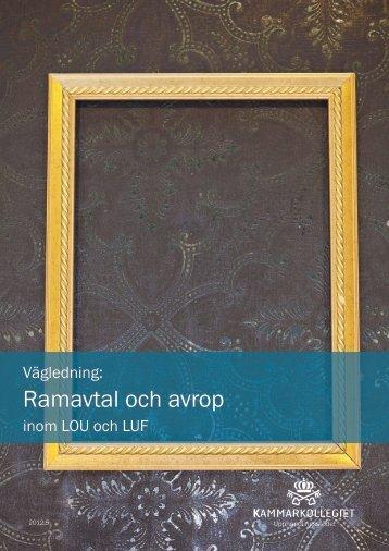 Ramavtal - Upphandlingsstöd.se
