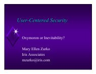 User-Centered Security