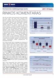 Komercinio NT rinkos komentaras 2011 m. IV ketv. - Ober-Haus