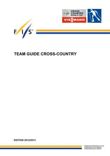 Team Guide Cross-Country 2012-2013 (status: 30.10 - Fis