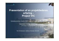 Project VIC - IT in Civil Engineering. Aalborg University - Aalborg ...