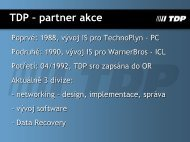 TDP – partner akce