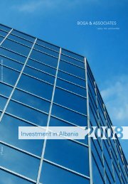 Investment in Albania 2008 (3rd Edition) - Bogalaw.com