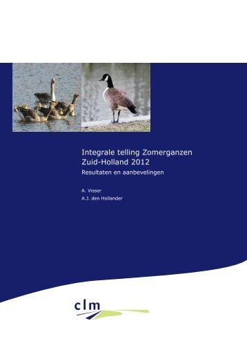 rapport Integrale telling zomerganzen, Zuid Holland 2012 - Clm