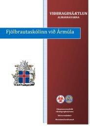 Viðbragðsáætlun - Fjölbrautaskólinn við Ármúla