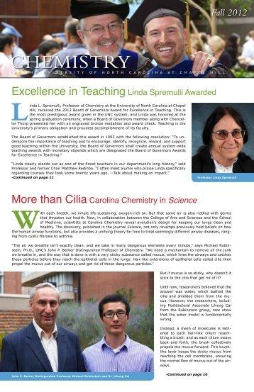 2012 Newsletter - University of North Carolina at Chapel Hill