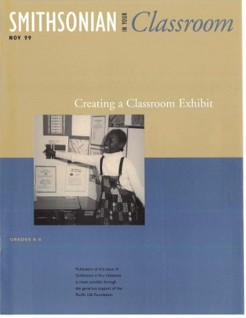 Creating a Classroom Exhibit - Smithsonian Education