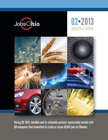 JobsOhio Q2 2013 Report