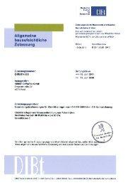 Deutsches Institut für Bautschnik Zulassungsstelle für Bauprodukte ...