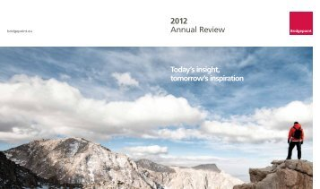 Download 2012 Annual Review - Bridgepoint Capital