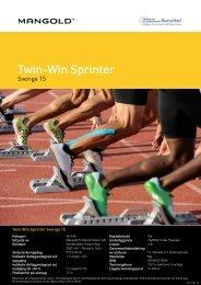 twin-win sprinter sverige 15 - Mangold Fondkommission