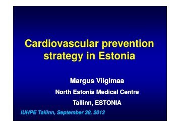 Cardiovascular prevention strategy in Estonia