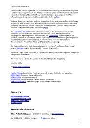 2. Newsletter für weiterführende Schulen Nov/Dez - Theater und ...