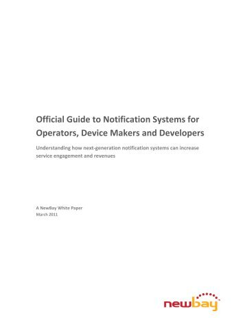 Official Guide to Notification Systems for Operators ... - Telecoms.com