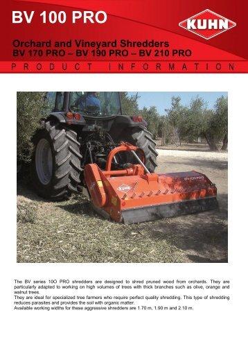 BV 100 PRO - Kuhn do Brasil Implementos Agricolas