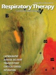 capnography aerosol delivery tracheostomy corticosteroids intubation