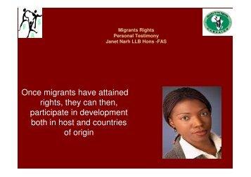 Janet Narh - Migration for development