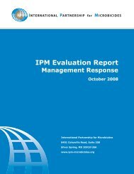 IPM Evaluation Report - International Partnership For Microbicides