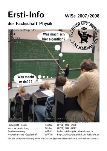 Ersti-Info WiSe 2007/2008 - Fachschaft Physik