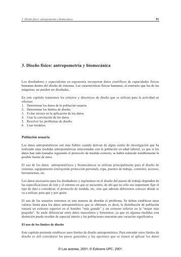 3. Diseño físico: antropometría y biomecánica