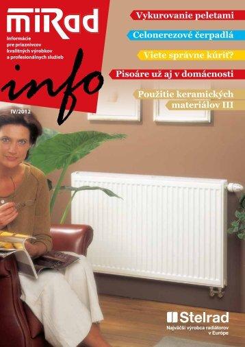 MIRAD Info, číslo 4/2012