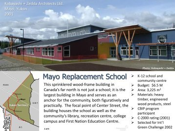 Mayo Replacement School - Forintek Canada Corp.