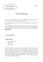 réponse au code - CM-CIC Asset Management