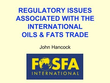 regulatory issues associated with the international oils ... - MOSTA