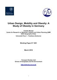 Urban Design, Mobility and Obesity: A Study of Obesity in Germany