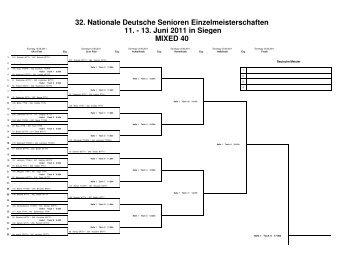 32. Nationale Deutsche Senioren Einzelmeisterschaften 11. - 13 ...